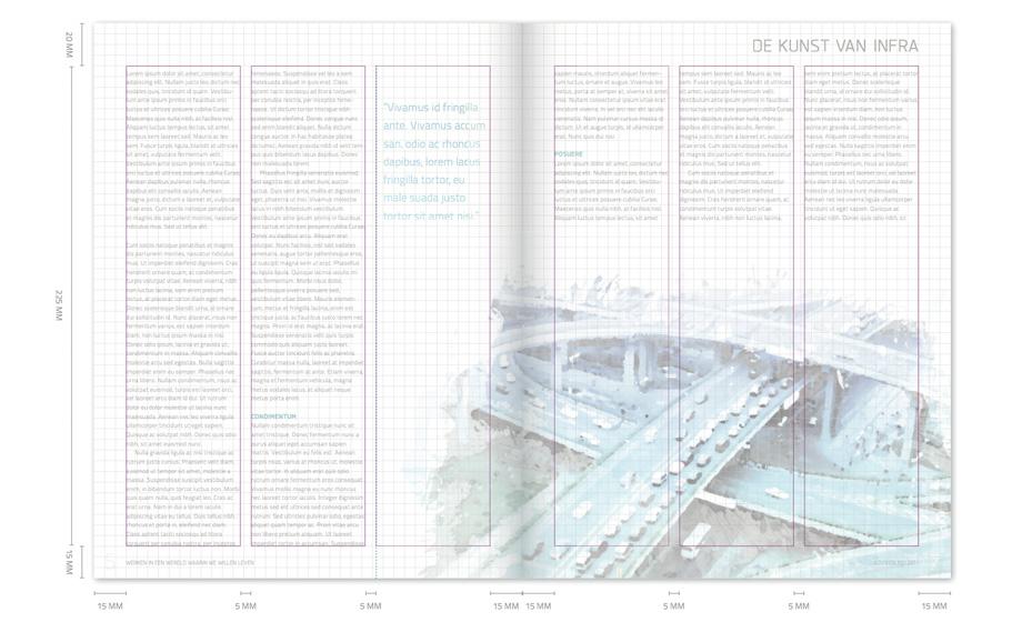 Het grid zorgde er voor dat ondanks de drukke beelden geen enkele pagina rommelig werd.